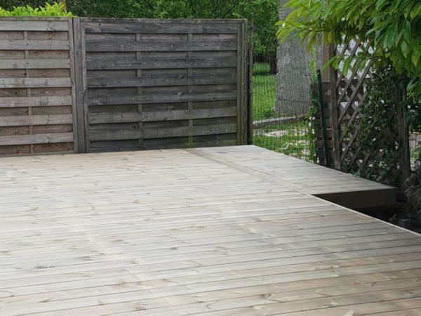 Terrasse en pin autoclave gris classe 4 excellent rapport qualité prix