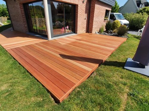 Terrasse bois en kit exotique Jatoba meilleur rapport qualité prix