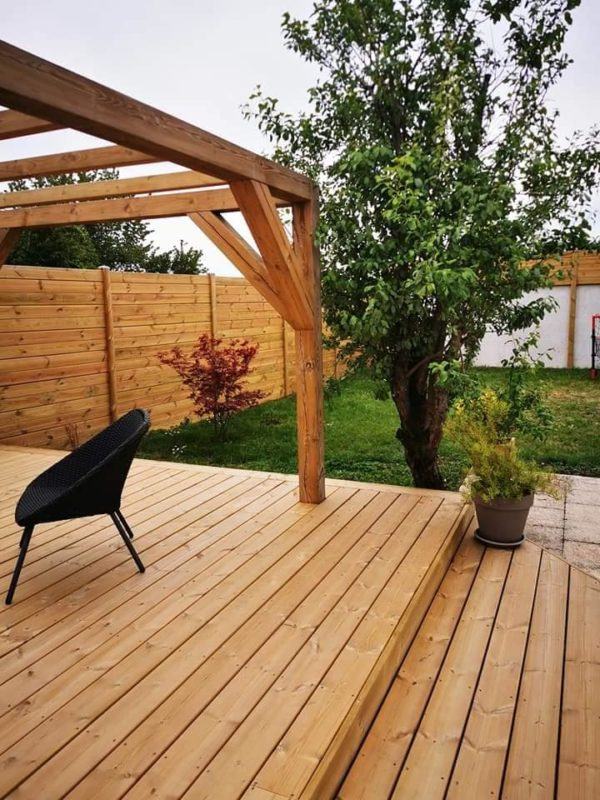 Terrasse en pin autoclave classe 4 excellent rapport qualité prix