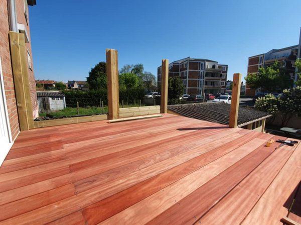 Terrasse bois surélevé padouk