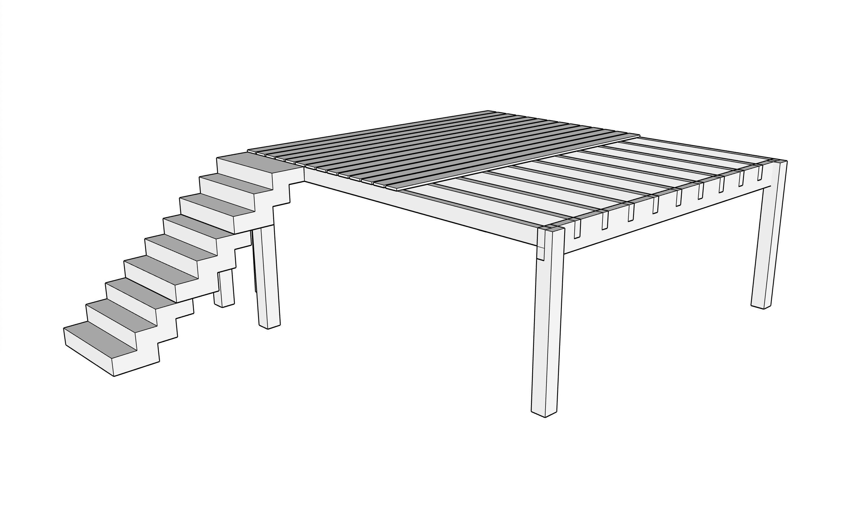 Plans terrasse bois sur mesur
