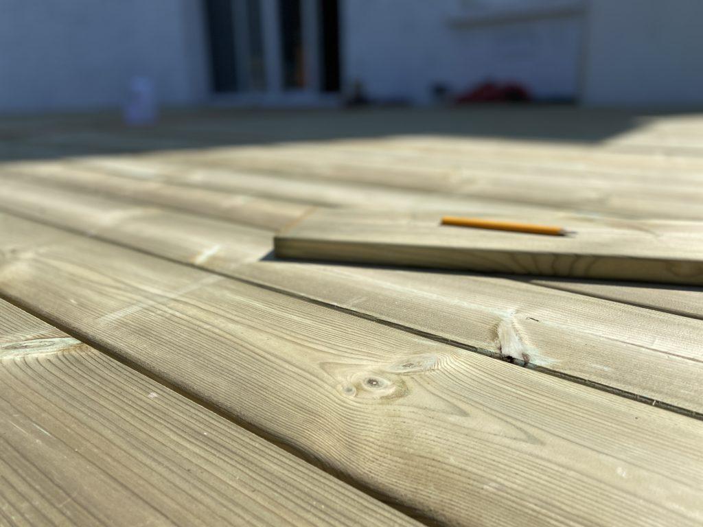 Terrasse bois en pin