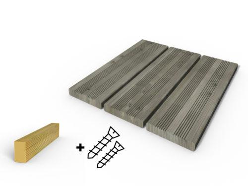 Terrasse bois autoclave gris