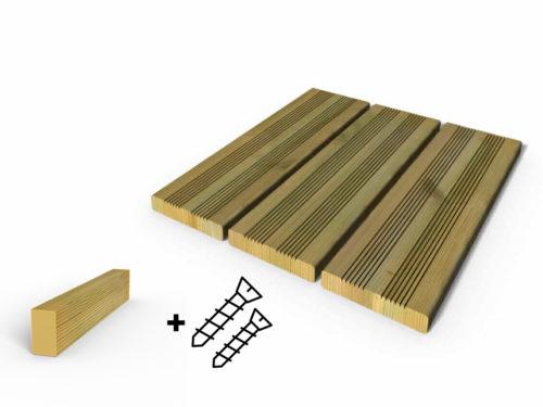 Terrasse bois autoclave vert